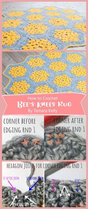 Bee's Knees Crochet Rug By Tamara Kelly