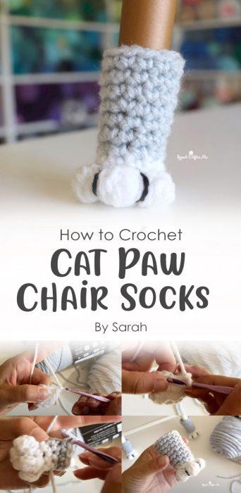 Cat Paw Chair Socks Crochet By Sarah
