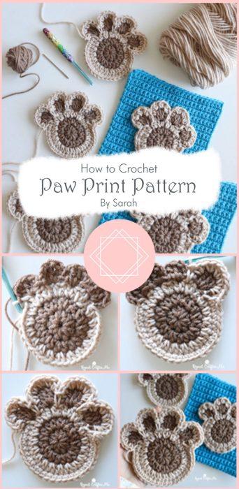 Crochet Paw Print Pattern By Sarah