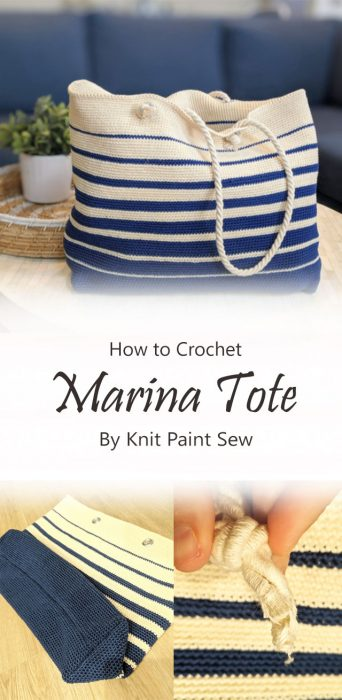 Marina Tote Crochet By Knit Paint Sew