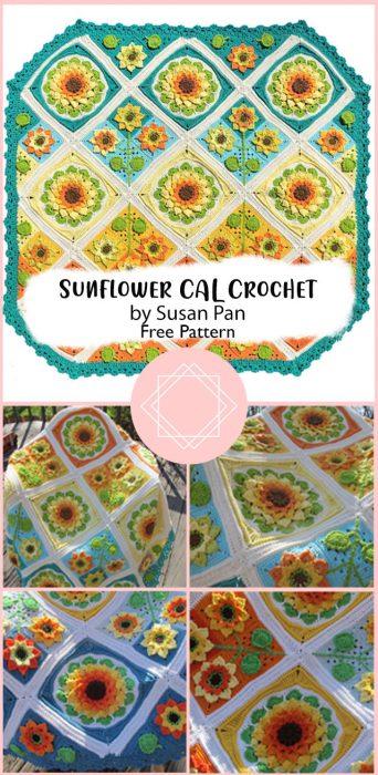 Sunflower CAL Crochet by Susan Pan