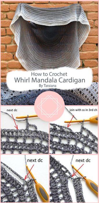 Whirl Mandala Cardigan Crochet By Tatsiana