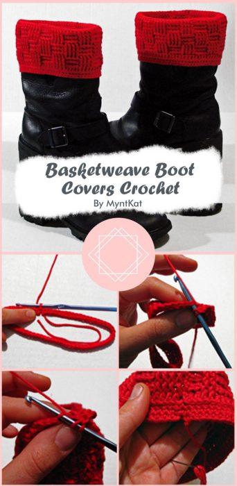 Basketweave Boot Covers Crochet By MyntKat
