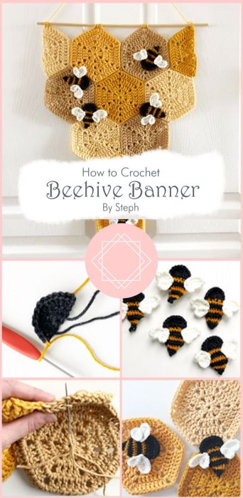 Beehive Banner Crochet By Steph