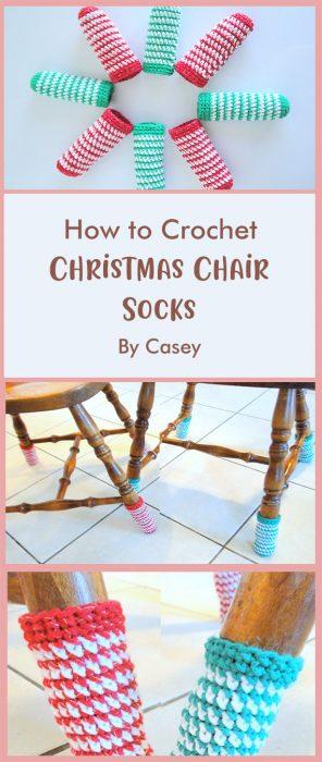 Christmas Chair Socks By Casey