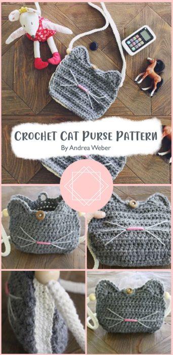 Crochet Cat Purse Pattern By Andrea Weber