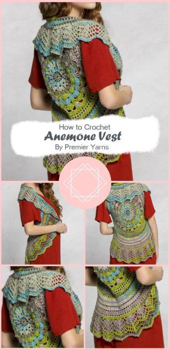 Anemone Vest Crochet By Premier Yarns
