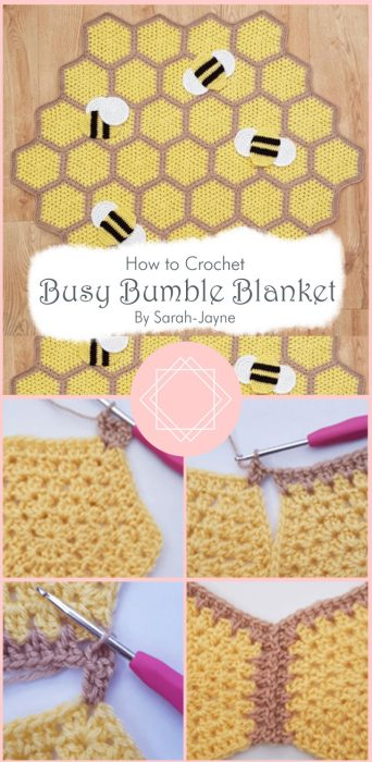 Busy Bumble Blanket Crochet By Sarah-Jayne
