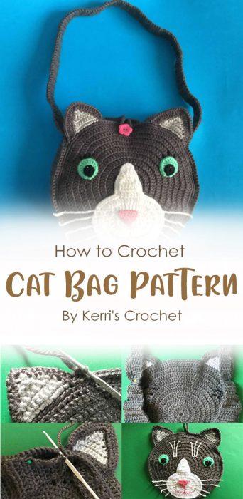 Crochet Cat Bag Pattern By Kerri's Crochet