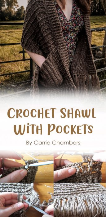 Crochet Shawl With Pockets By Carrie Chambers