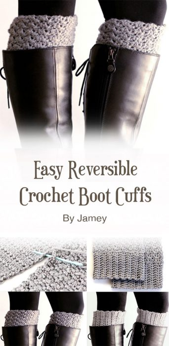 Easy Reversible Crochet Boot Cuffs By Jamey