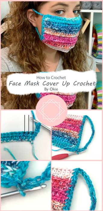 Face Mask Cover Up Crochet By Okie