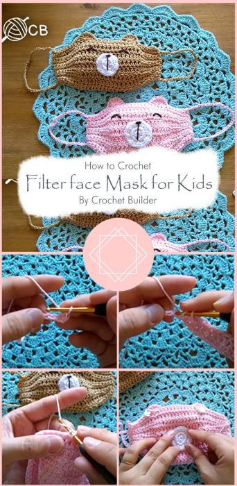 Filter face Mask for Kids By Crochet Builder