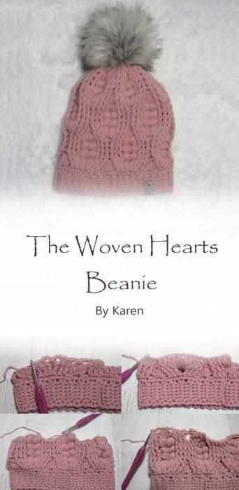 The Woven Hearts Beanie By Karen