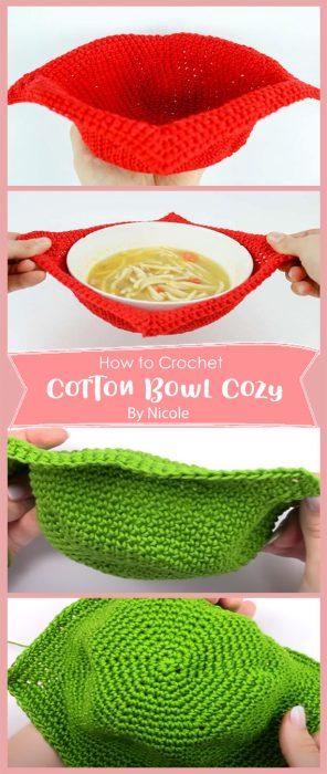 Cotton Bowl Cozy Crochet By Nicole