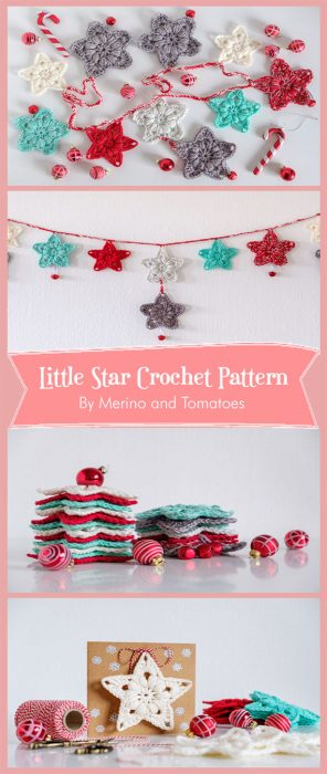 Little Star Crochet Pattern By Merino and Tomatoes