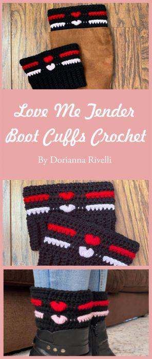 Love Me Tender Boot Cuffs Crochet By Dorianna Rivelli