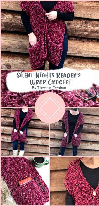 Silent Nights Reader's Wrap Crochet By Theresa Denham