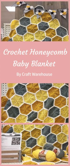 Crochet Honeycomb Baby Blanket By Craft Warehouse