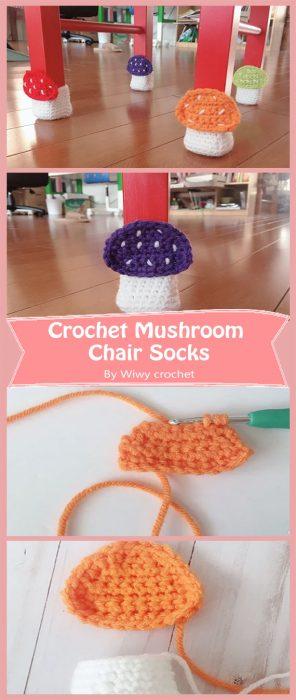 Crochet Mushroom Chair Socks By Wiwy crochet