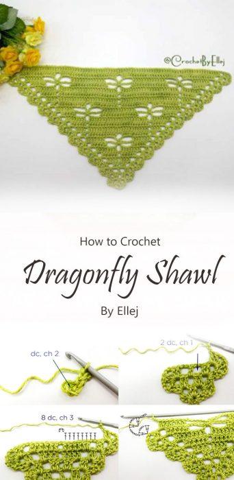 Dragonfly Shawl Crochet By Ellej