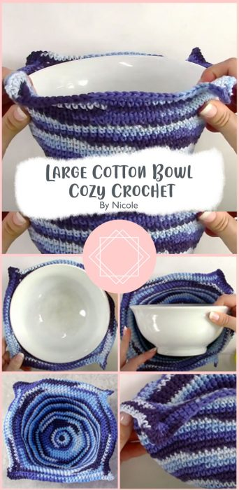 Large Cotton Bowl Cozy Crochet By Nicole