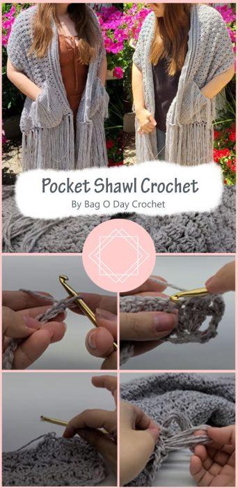 Pocket Shawl Crochet By Bag O Day Crochet