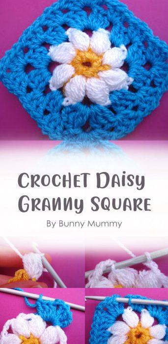 Crochet Daisy Granny Square By Bunny Mummy