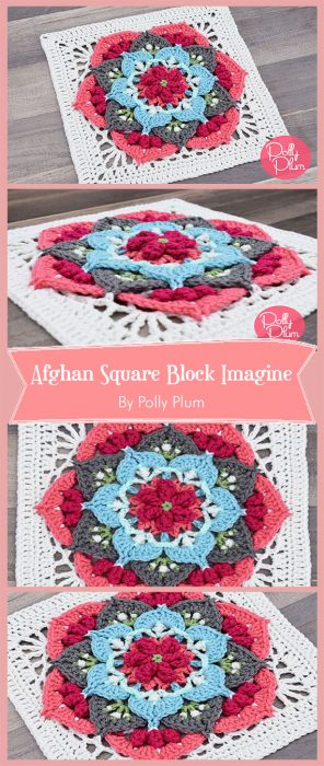 Afghan Square Block Imagine By Polly Plum