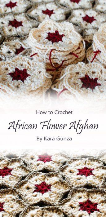 African Flower Afghan By Kara Gunza
