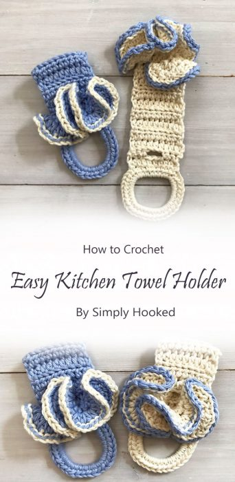 Easy Kitchen Towel Holder By Simply Hooked
