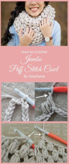 Jumbo Puff Stitch Cowl By Stephanie