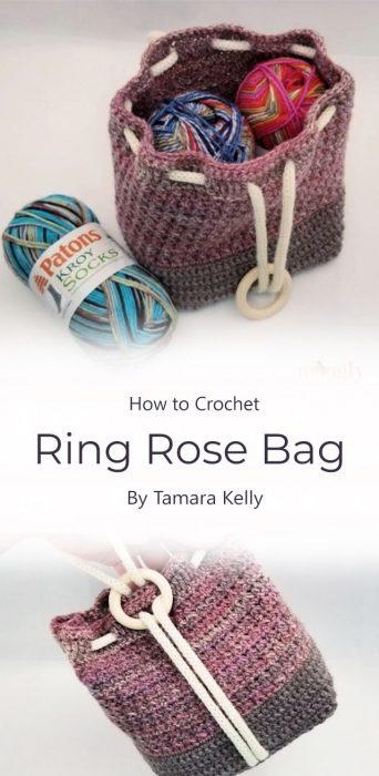 Ring Rose Bag Crochet By Tamara Kelly