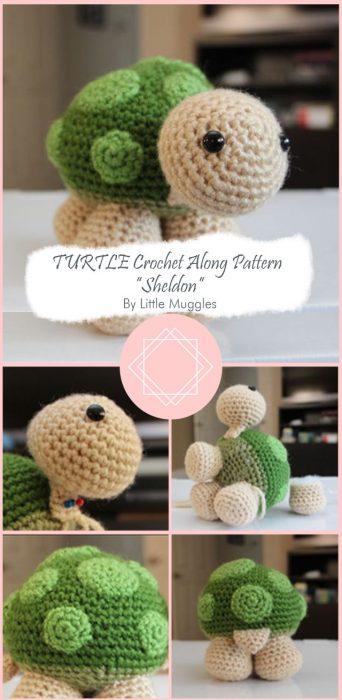 """TURTLE Crochet Along Pattern – """"Sheldon"""" By Little Muggles"""