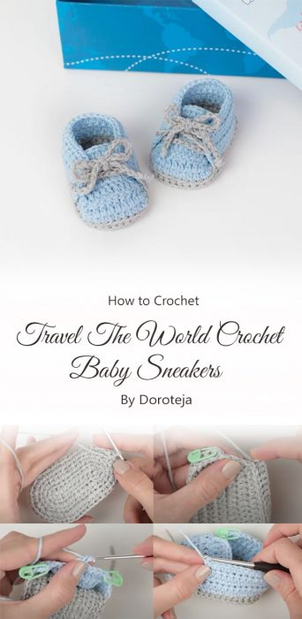 Travel The World Crochet Baby Sneakers By Doroteja