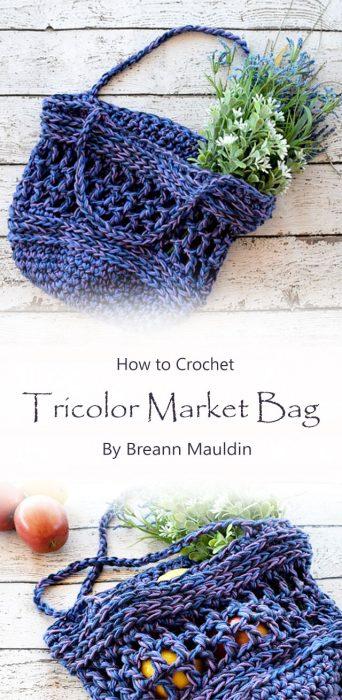Tricolor Market Bag By Breann Mauldin
