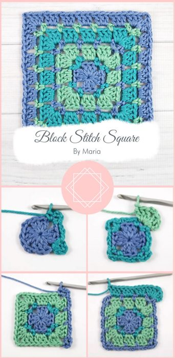 Block Stitch Square By Maria