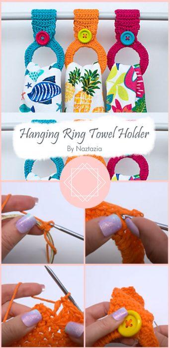 Hanging Ring Towel Holder By Naztazia
