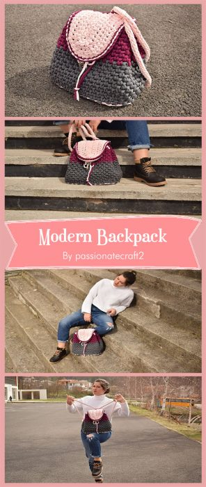 Modern Backpack By passionatecraft2