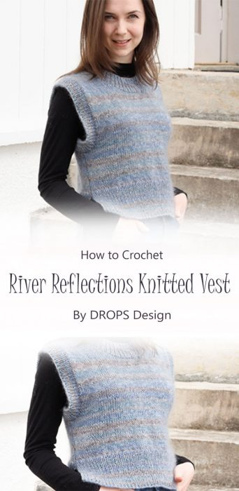 River Reflections Knitted Vest By DROPS Design