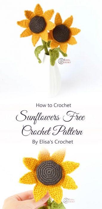 Sunflowers Free Crochet Pattern By Elisa's Crochet