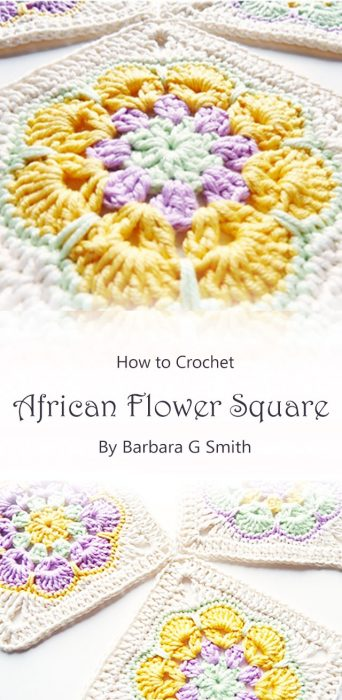 African Flower Square By Barbara G Smith