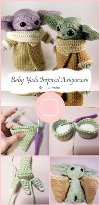 Baby Yoda Inspired Amigurumi Pattern By 1UpAshe