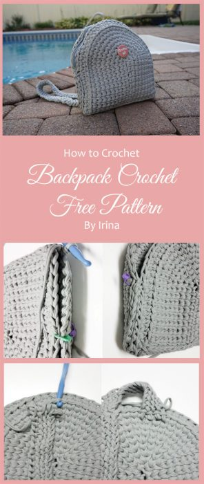 Backpack Crochet Free Pattern By Irina