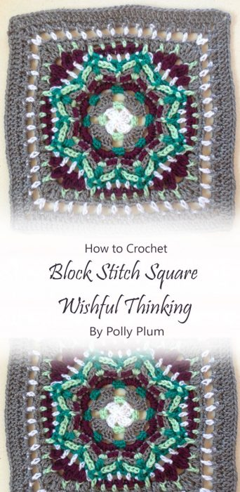 Block Stitch Square Wishful Thinking By Polly Plum