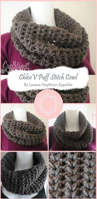 Chloe V Puff Stitch Cowl By Lorene Haythorn Eppolite