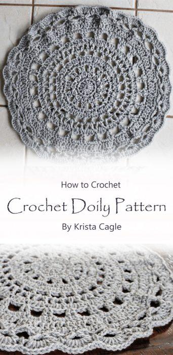 Crochet Doily Pattern By Krista Cagle