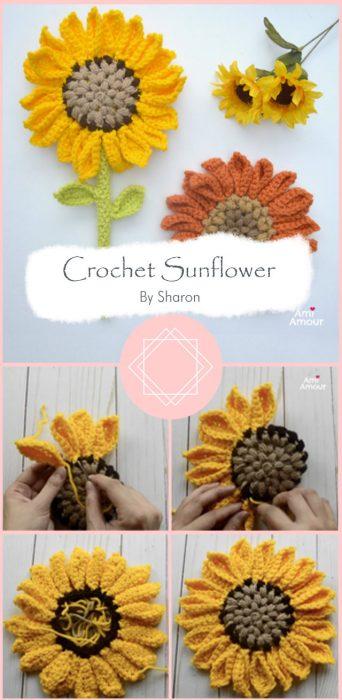 Crochet Sunflower – Amigurumi Flower Wand By Sharon