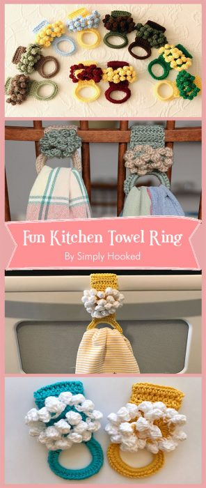 Fun Kitchen Towel Ring By Simply Hooked