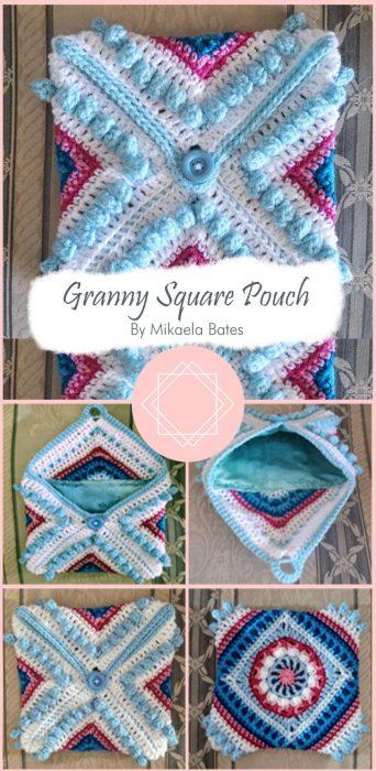 Granny Square Pouch By Mikaela Bates